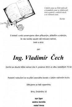 Zemřel hudební kritik Vladimír Čech
