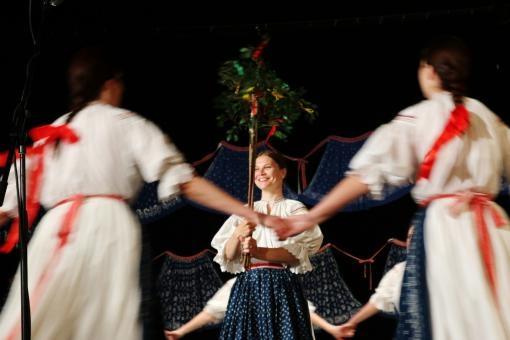Javorník s Jiskrou. Společné vystoupení folklorních souborů v Brně